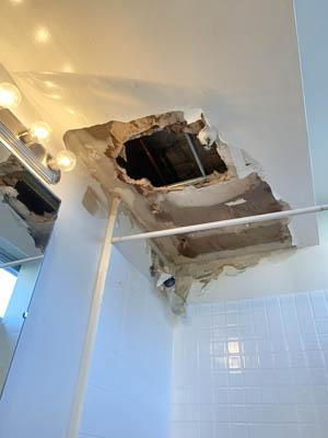drywall repair ceiling from a water leak